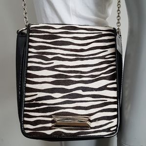 White House Black Market zebra crossbody purse